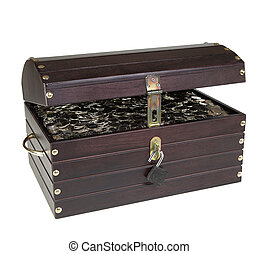 Chest with silver coins