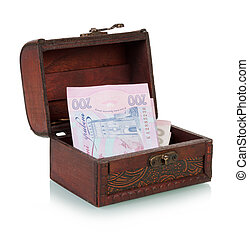 Chest with Ukrainian banknotes - Treasure Chest With ...