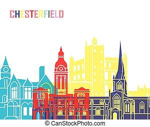 chesterfield, skyline, estouro, reino unido