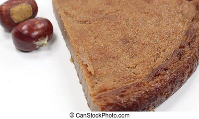 chestnut cake chestnut season autumn