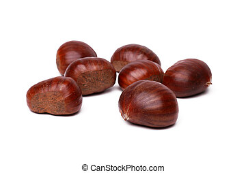 chestnut - Chestnuts isolated on white background