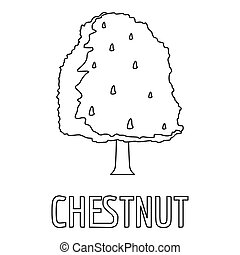 Chestnut icon, outline style.
