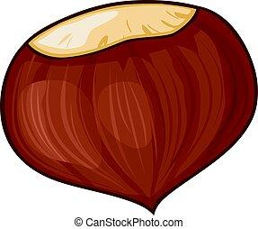 chestnut vector illustration - chestnut illustration
