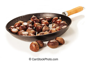 chestnuts - Chestnuts on the white background