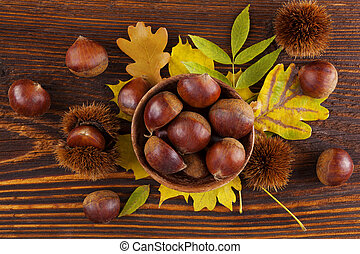 Chestnuts from above.