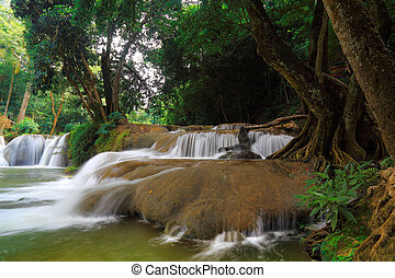 Chet Sao Noi waterfall in the rain forest
