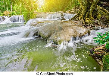 chet, sao, waterfall., noi