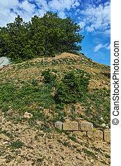 Chetinyova mound in archeological site of Starosel, Plovdiv Region