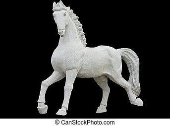 cheval, ancien, classique, grec, copie exacte, époque, statue