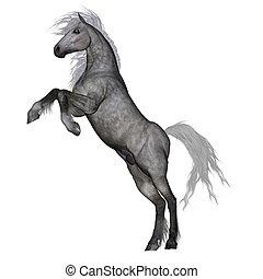dessin cheval en 3d