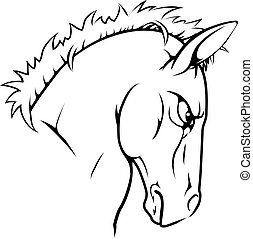 cheval, caractère, mascotte