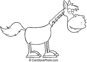cheval, esquissé