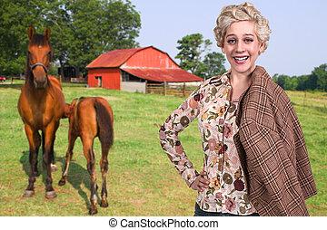 cheval, femme