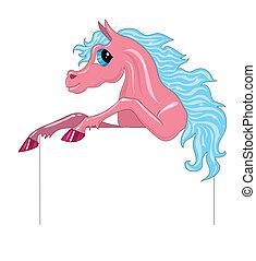 cheval, fond