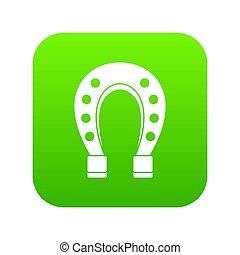 cheval, icône, vert, chaussure, numérique