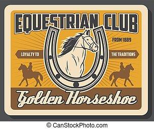 cheval, jockey, équestre, club, polo, équitation, sport