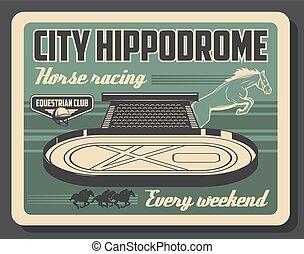 cheval, jockey, course, hippodrome, polo, sport