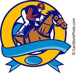 cheval, jockey, courses