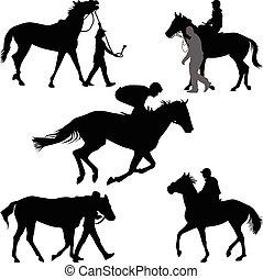cheval, jockey