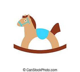 cheval, jouet, culbuteurs, jeu, enfant, bébé, monté