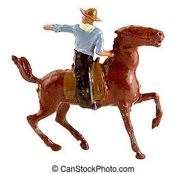 cheval, métal, cow-boy