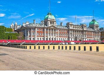 cheval, royaume-uni, gardes, london., parade.