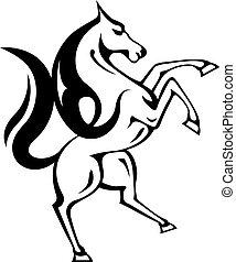 cheval sauvage, vecteur