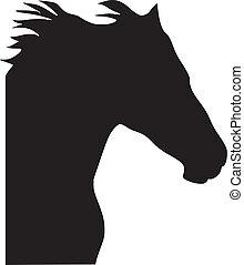 cheval, silhouette