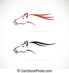 Cheval, tête, fond, vecteur, conception, logo, Images,...