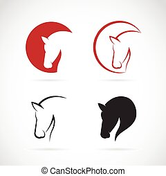 cheval, vecteur, conception, fond, images, blanc