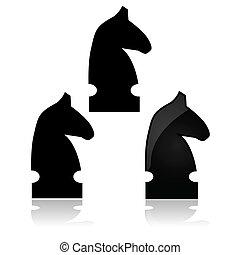 chevalier, échecs