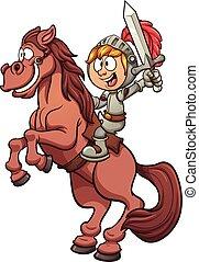 chevalier, équitation