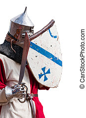 chevalier, armure, bouclier, épée