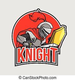 chevalier, conception, illustration