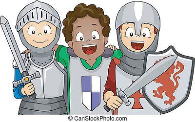 chevalier, déguisement