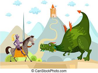 chevalier, dragon