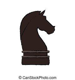 chevalier, morceau échecs