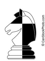 chevalier, résumé, échecs, illustration