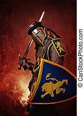 chevalier, résumé, moyen-âge, arrière-plan.