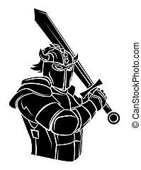 chevalier, vecteur, illustration