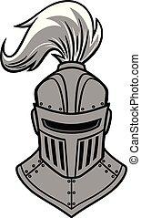 chevalier, vue, illustration, devant