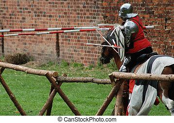 chevaliers, moyen-âge, jouter