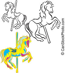 chevaux, carrousel