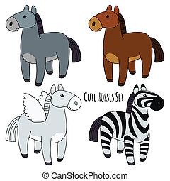 chevaux, ensemble