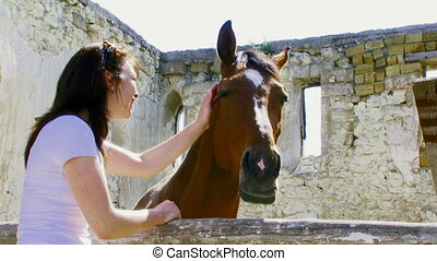 chevaux, girl, amours