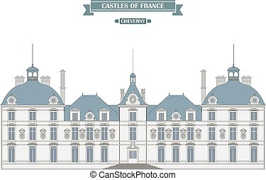 Cheverny, France. The medieval castle, a monument of architecture and history of France