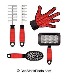 cheveux, équipement, pet's