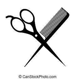 cheveux, bar, conception
