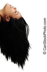 cheveux, beauté, africaine