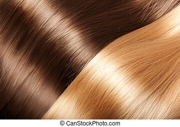 cheveux, brillant, texture